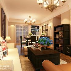 108平米三居客厅美式欣赏图片大全