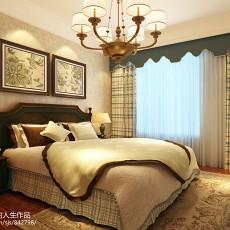 精美面积101平美式三居卧室装饰图片大全