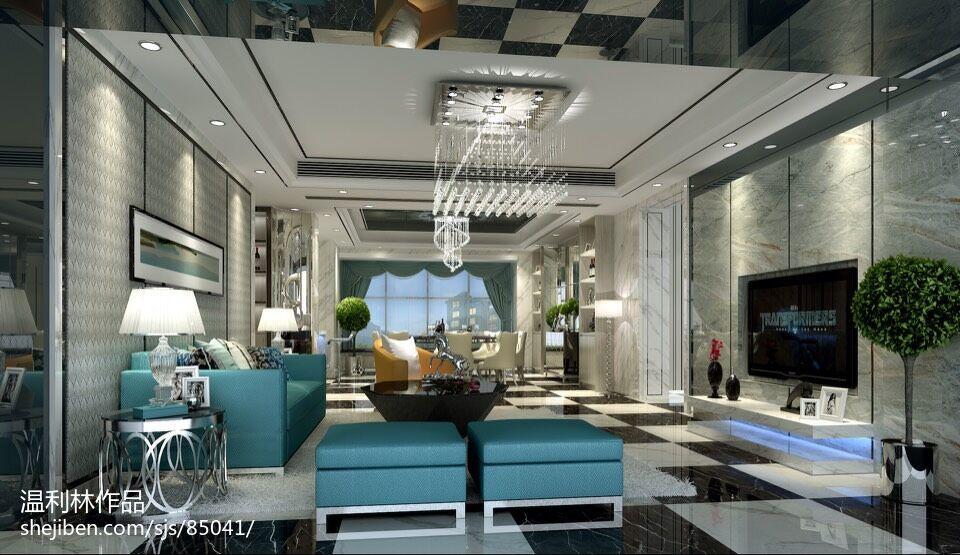 室内设计现代简约风格客厅效果图