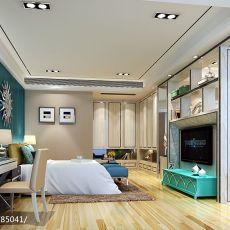 热门124平米四居卧室现代装饰图片大全