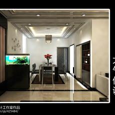 精选面积118平现代四居餐厅装修实景图片