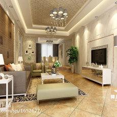 精选面积113平现代四居客厅装修图