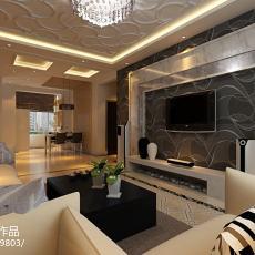 201877平米二居客厅现代装饰图片大全