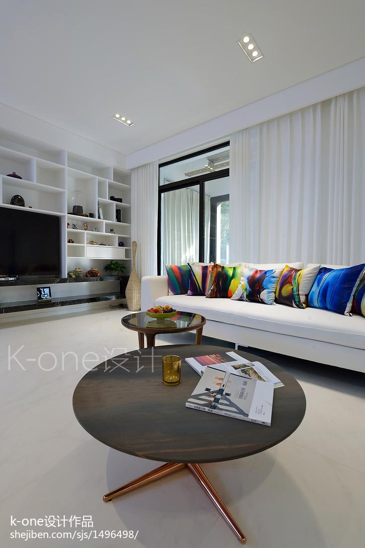 2018精选131平米现代复式客厅装修设计效果图