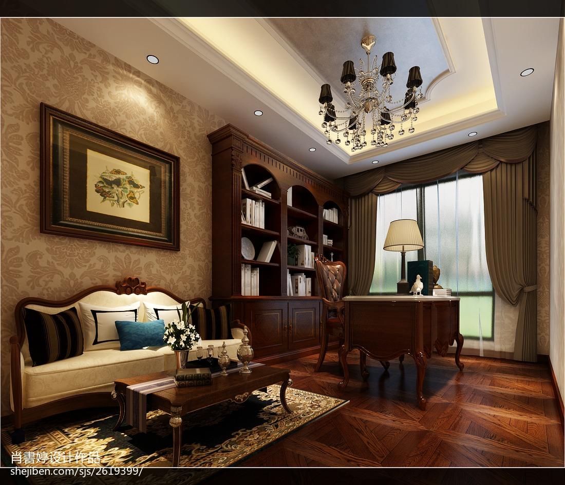 热门欧式二居书房装饰图片欣赏
