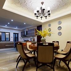 精选面积122平别墅餐厅中式装修实景图