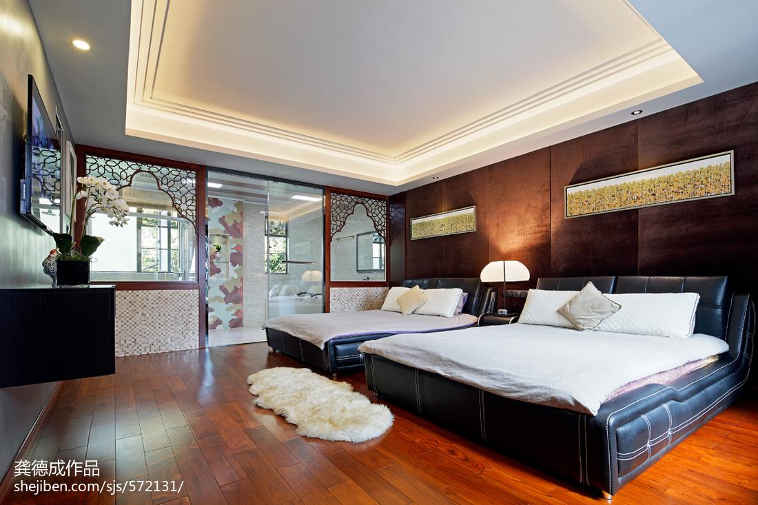 中式卧室吊顶设计装修图