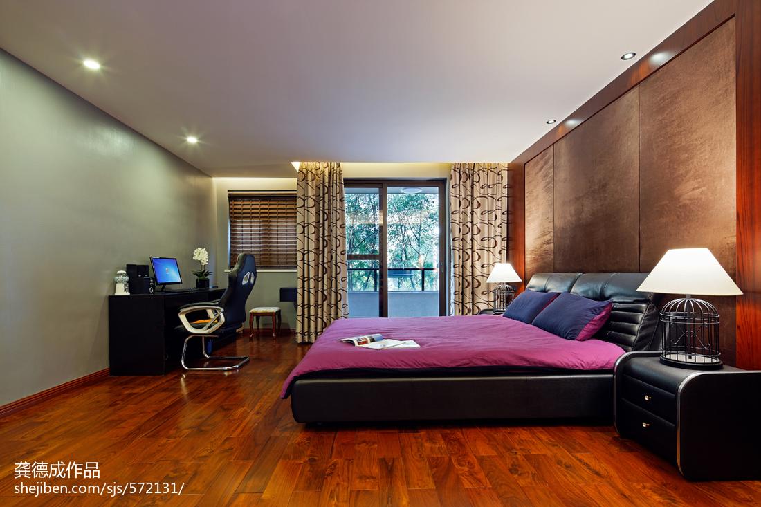 热门118平米中式别墅卧室装饰图片欣赏