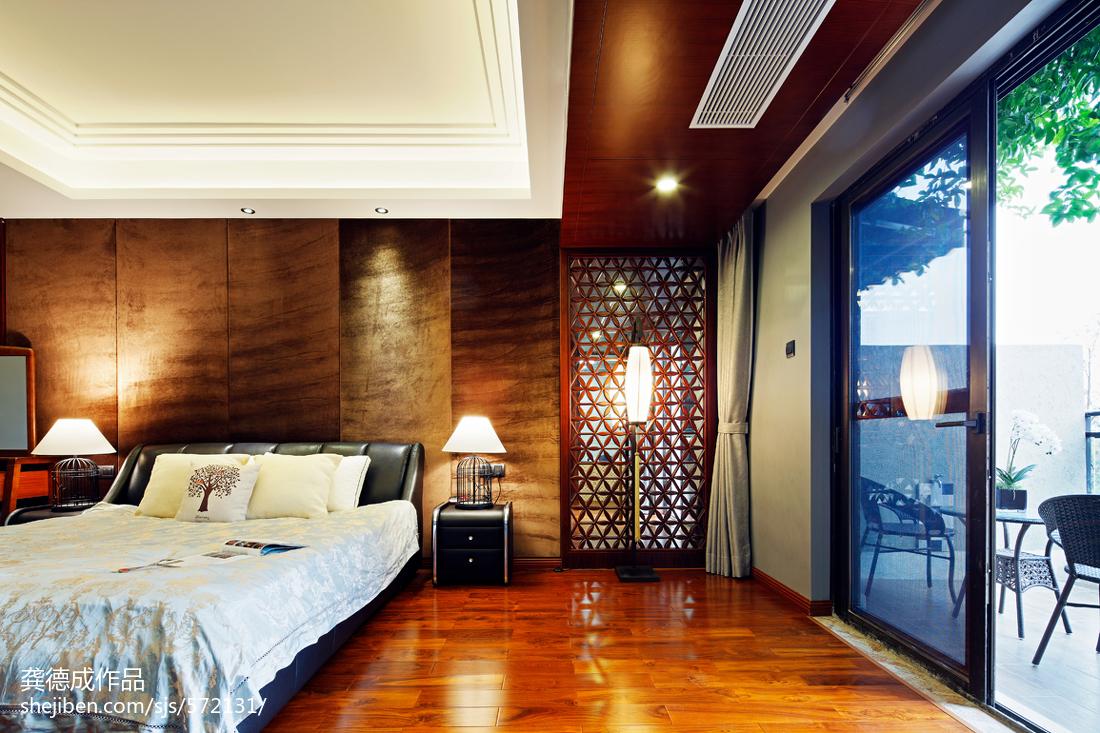 精美面积139平别墅卧室中式装饰图