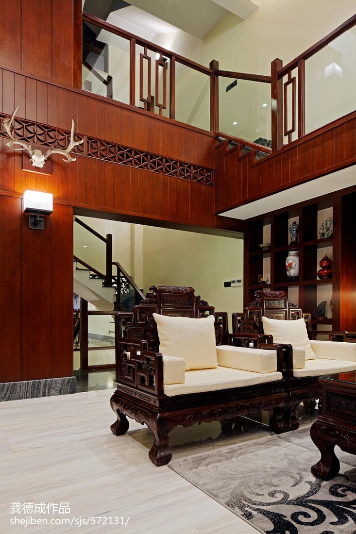 精美面积139平别墅客厅中式实景图片大全