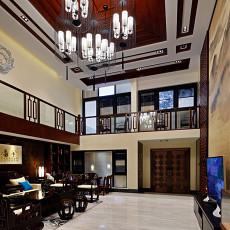 热门大小118平别墅客厅中式装修效果图片大全