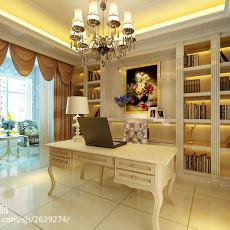 2018精选面积104平欧式三居书房装修设计效果图
