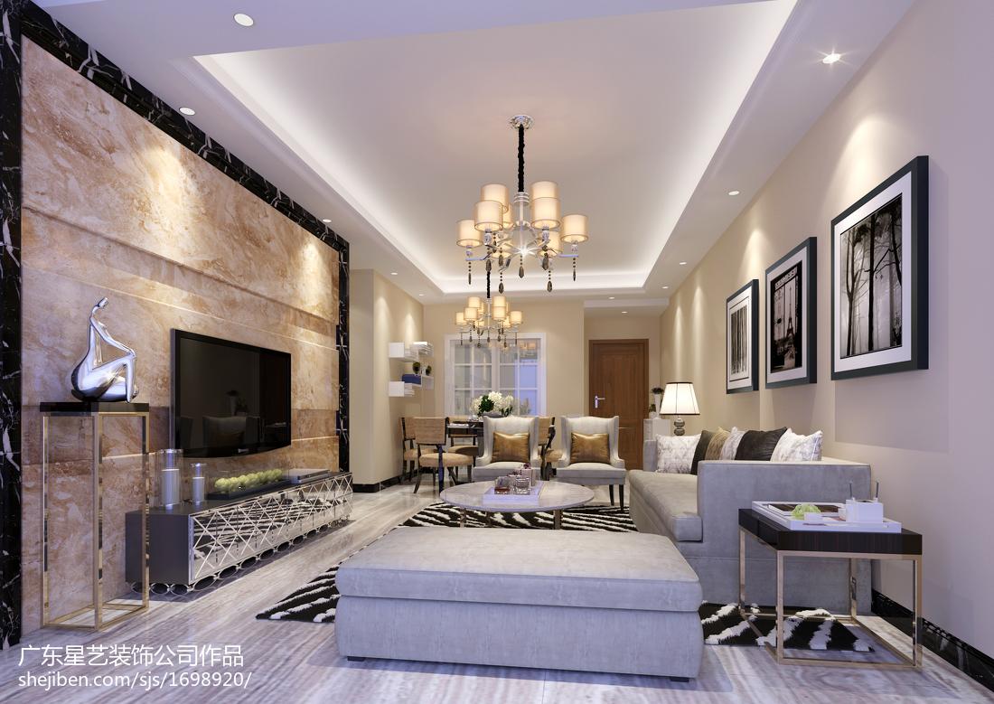 83平米中式小户型客厅装饰图片欣赏