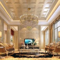 面积119平别墅客厅现代设计效果图