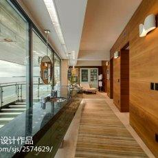 2018精选面积143平别墅客厅现代装修设计效果图片