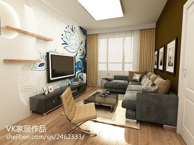 201889平米现代小户型客厅装饰图片
