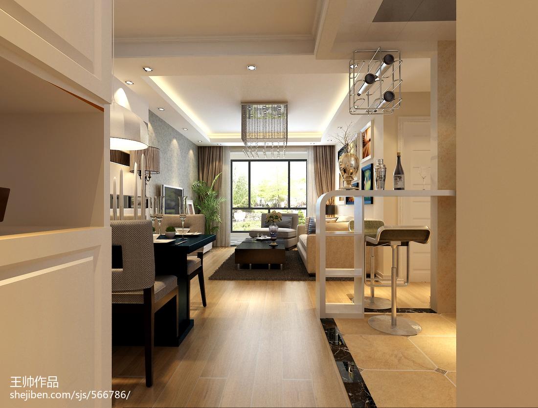 2018面积87平小户型客厅现代欣赏图