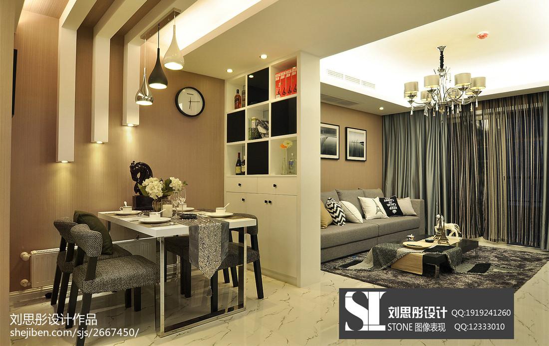 精美80平方二居客厅现代装修效果图片欣赏
