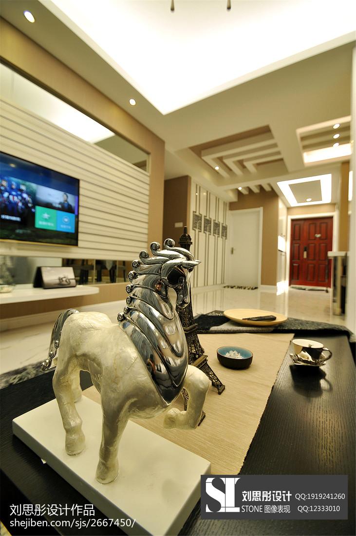 面积78平现代二居客厅欣赏图片大全
