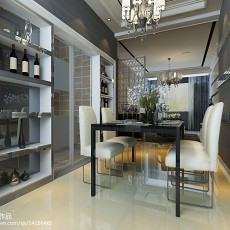 2018精选80平米二居餐厅现代装饰图
