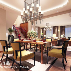 中式别墅餐厅欣赏图片