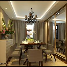 137平米现代复式餐厅欣赏图片大全