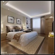 现代二居卧室效果图