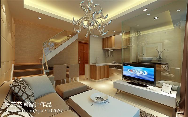 热门81平米现代小户型客厅装修实景图
