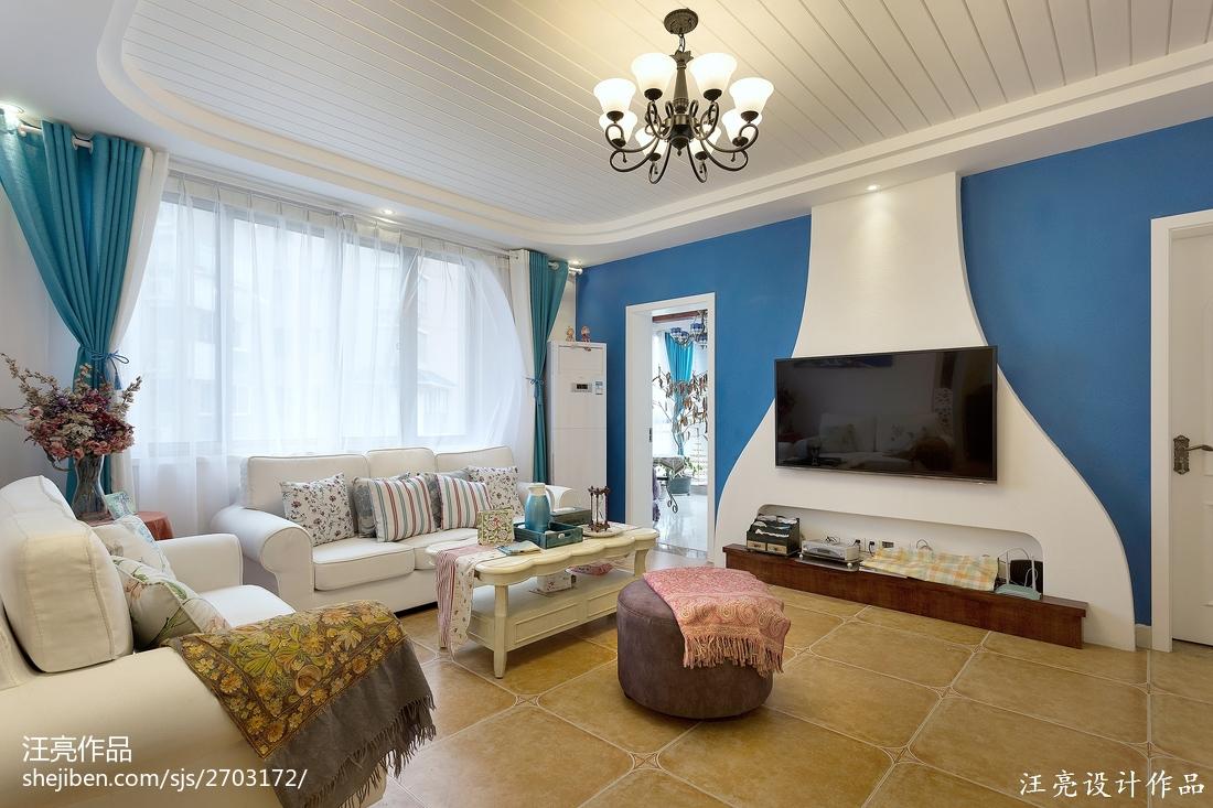 精选面积122平地中海四居装饰图片大全