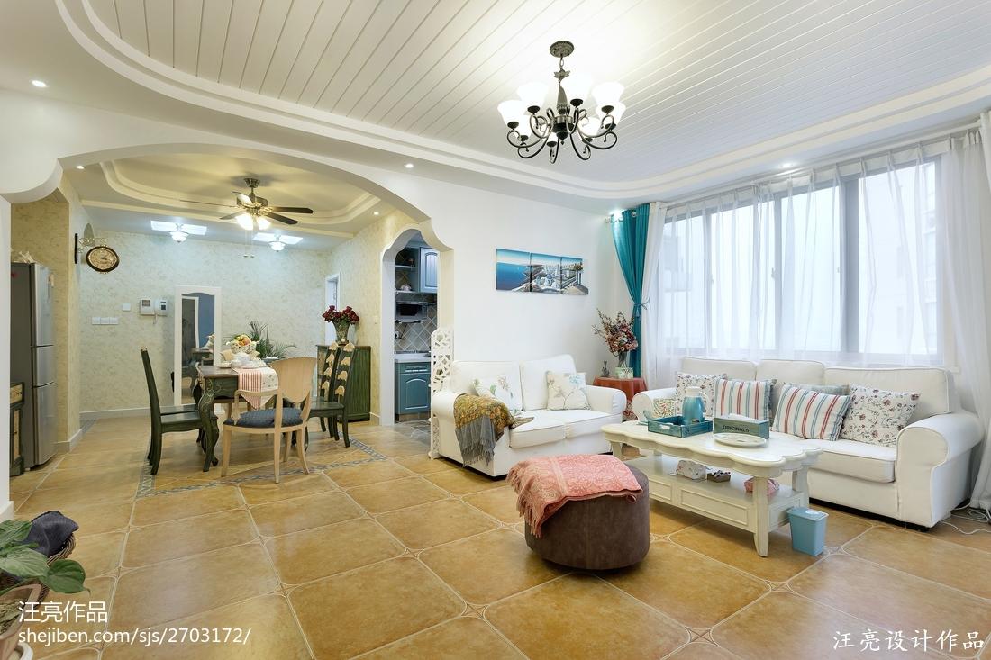 精选面积113平地中海四居装修设计效果图片大全