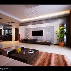 精选124平方四居客厅现代实景图