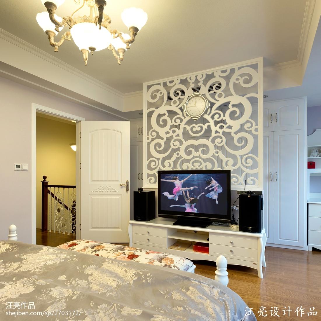 欧式风格卧室电视墙设计装修