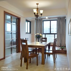 面积91平新古典三居餐厅装修效果图片大全