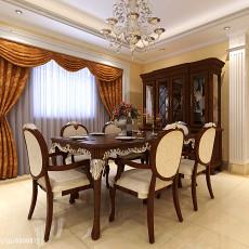 精美面积139平欧式四居餐厅效果图片