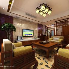 热门140平米中式复式客厅装饰图片