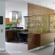 狭长型厨房壁纸效果图欣赏