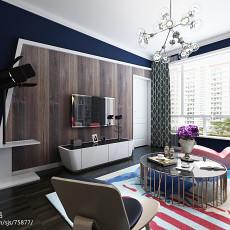 精美90平米现代小户型客厅装修实景图