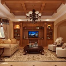 精选130平米美式别墅客厅欣赏图片