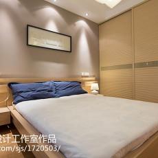 精美面积90平现代三居卧室装修设计效果图片大全