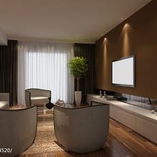 2018精选121平米四居客厅现代装修设计效果图片大全