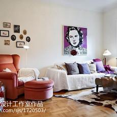 精美面积85平小户型客厅现代装修设计效果图片欣赏