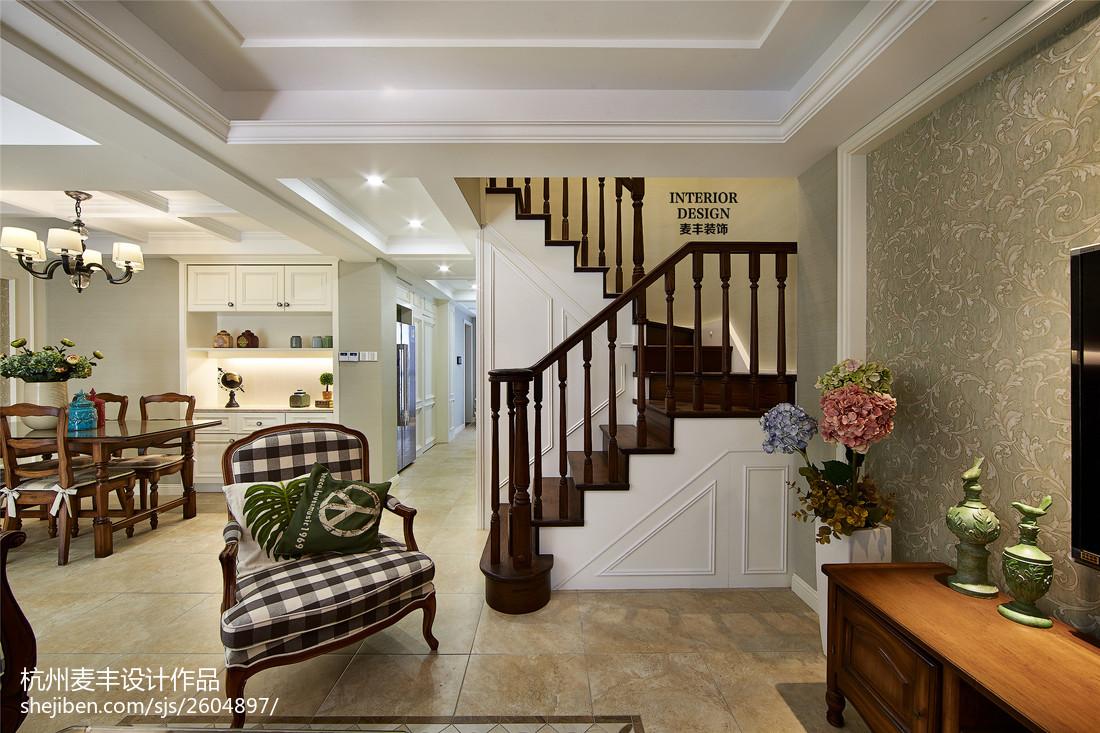 简约美式室内楼梯设计图大全