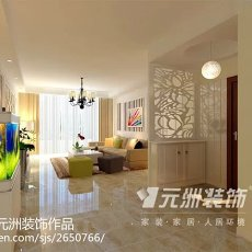 201899平方三居卧室现代装修实景图