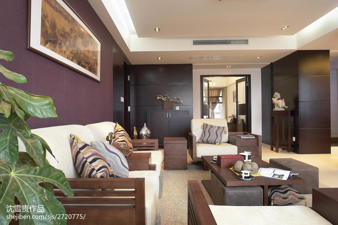 精选面积96平中式三居客厅实景图片大全