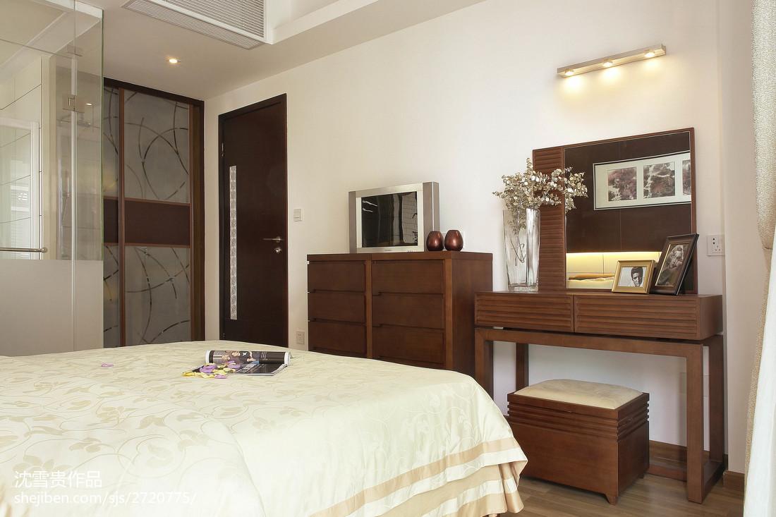 精选103平方三居卧室中式装修欣赏图片