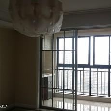 精美面积104平欧式三居阳台实景图片大全