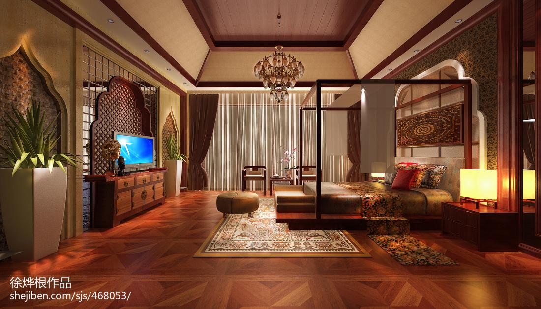 精美别墅卧室东南亚装修设计效果图片大全