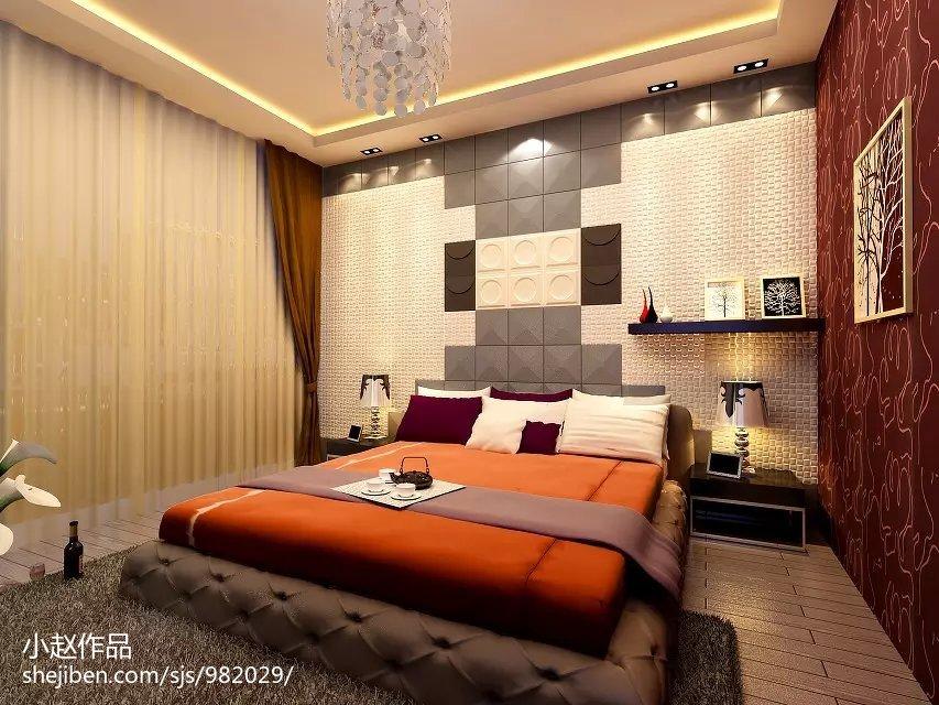 热门面积71平小户型卧室混搭装饰图片大全