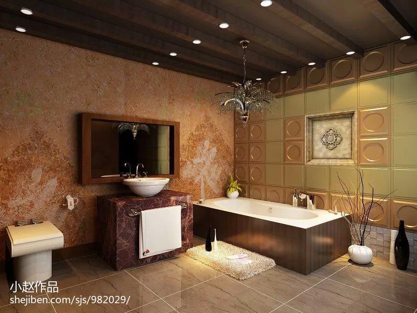 热门面积78平小户型卫生间混搭装修欣赏图片