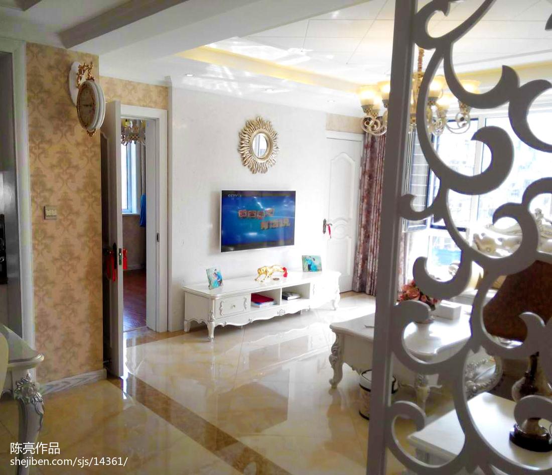精美106平方三居客厅欧式装修实景图片欣赏